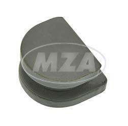 Gummiverschluss für Kabeldurchführung, ohne Loch - am Lichtmaschinendeckel, grau