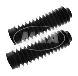 Paar Faltenbalg, schwarz - für lange, ölgedämpfte Telegabel - S53OR ,S83OR, SR50, SR80, MS50 - Länge: ca. 185 mm