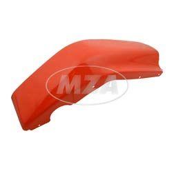 Beinschutz rechts - verkehrsrot pulverbeschichtet mit Oberflächenschaden (Staubeinschlüsse, Orangeneffekte und/ oder leichte Kratzer) - SR50, SR80 - verzinktes Blech (DIN EN 10152/10131)