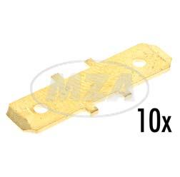 10x Einzelbrücken (Messing) f. Leitungsverbinder 8800.1 - für Mokick + Motorrad