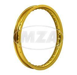 Felge 1,50x16  Alufelge gold eloxiert - glänzend