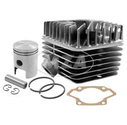 SET Tuningzylinder - kpl. mit Zylinderkopf S50 / S63, Kolben K18, Ø45mm (63ccm) und Zylinderfußdichtung