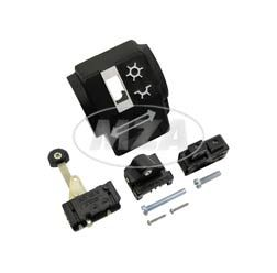 Gehäusehälfte hinten -  Schalterkombination - mit Abblend- u. Blinkschalter, Doppeltaster - mit Schrauben - ohne Kabelbaum