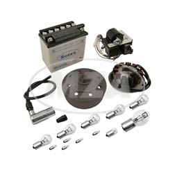 Umrüstsatz Zündanlage VAPE (M-G) für SR50, SR80, SD50 auf 12V 35/35W - mit Zubehör, ohne Säure