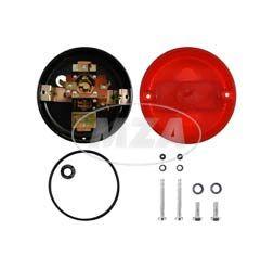 Set Rücklicht vollständig (Metallgehäuse) - BSL (8522.11/1)  ø100mm -  Bremsschlußleuchte - ohne Leuchtmittel - KR51/1, S50