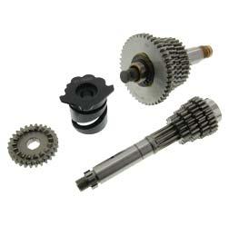 SET Sportgetriebe 5-Gang - lange Übersetzung - mit Schaltwalze (Losrad - 44, 40, 36, 34, 32 Z / Festrad - 10, 16, 19, 22, 24 Z)