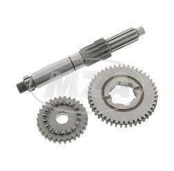 Umbauset: Langer 1. Gang für 5-Gang-Getriebe M500-M700 - Kupplungswelle 12 Z, Losrad 44 Z + Kickstarterritzel