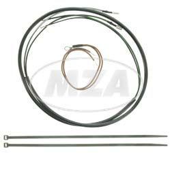 Kabelsatz für rechte und linke hintere Blinkleuchten - schwarze Ummantelung, Querschnitt 0,75mm²