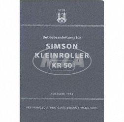 Betriebsanleitung  -KR50- Ausgabe 1962 (14. verbesserte Auflage mit 39 Bildern)