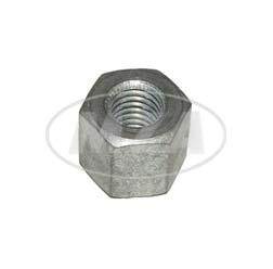 VPE 10G Sechskantmutter M10 - speziell f. Zuganker/ Stehbolzen - Zylinderkopf - Höhe 15,5 mm