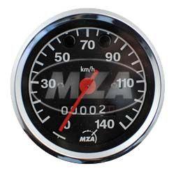 Tachometer ø80mm - Kontrollleuchte ROT und GRÜN - 3.0220/14 - ETZ125, ETZ150, ETZ250, ETZ251/301 (140km/h)