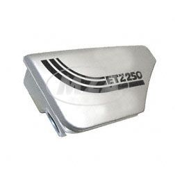Gehäuse f. Ansauggeräuschdämpfer, metalleffektlackiert ETZ 250