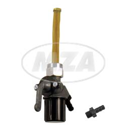 Kraftstoffhahn EHR (Benzinhahn), für ES, TS, ETZ-Modelle - inkl. Schlauchstutzen 8mm und Stutzen 6,5mm + Sieb