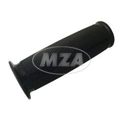 Handlebar grip rubber - right hand side for accelerator - black - Ø24 - with collar - side closed
