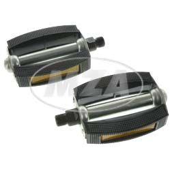 """SET Pedal - links und rechts (abgerundete Ausführung, Stahlachse 9/16"""" mit Reflektoren) - z.B. für SR1, SR2, SR2E, Mofa SL1, SR4-1 Spatz"""