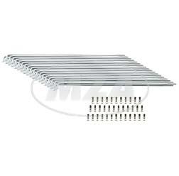 SET Speichensatz 36 Stück, chrom, M3x210 SR2, SR2E - Speichen + Speichennippel