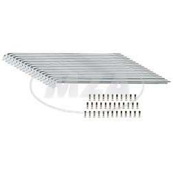 SET Speichensatz 36 Stück, Edelstahl,  M3x210 SR2, SR2E - Speichen + Speichennippel