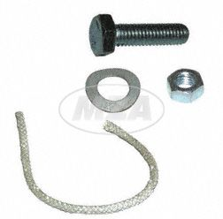Kleinteile- Set (Glasfaserschnur  und Schraube zur Klemmschelle für Schalldämpfer  6x110 lg. SR1, SR2, KR50/51, SR4-1