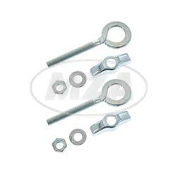 Kettenspannschraube vollst. -  Kettenspanner  - Paar - für 12er- Achse - verchromt  - SR2E, KR50