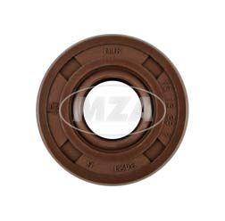 Wellendichtring NJK 12x28x7 - FPM - Viton - braun - mit Staublippe