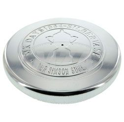 Filler cap E60 - model c - polished Alu - embossing: IFA - Six Days 1964 silber vase