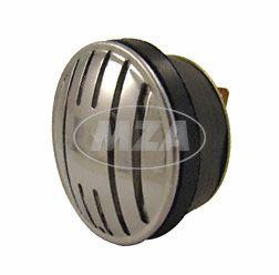 Signalhorn (Hupe) f. Gleichstrom 6V und 12V  - EDELSTAHLBLENDE - Simson SCHWALBE KR51, SR4-2, -3, -4, DUO im Einzelkarton verpackt