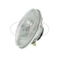 headlight insert H4 8709.15/2 halogen - with sidelight version - Ø178mm - convex, approx. 20mm higher - (asymmetrical right hand side) 20mm
