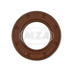 Szimering, tengelytömítő gyűrű NJK 30x52x12 - FPM - Viton barna - porvédő ajakkal
