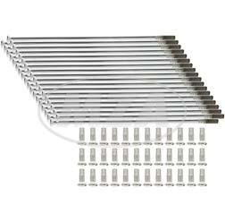 Chromspeichensatz m. Nippel, je 36x - M4x122 mm, gerade - z.B. ES, TS 16 Zoll
