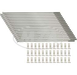 Edelstahlspeichensatz m. Nippel, je 36x - M4x122 mm, gerade - z.B. ES, TS 16 Zoll
