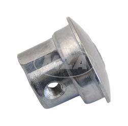 Abschlußpilz, Abschlussstopfen, Abschlußkappe für Gasdrehgriff, Lenkerrohr, rechts, Aluminium  - passend f. AWO und Motorrad