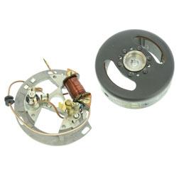 Schwunglichtprimärzünder SLPZ 8302.1 komplett (Rotor 8306.10-010 + Stator) - 6V-Unterbrecherzündung - ohne Lichtspulen - Aufbausatz Rasenmäher BM40