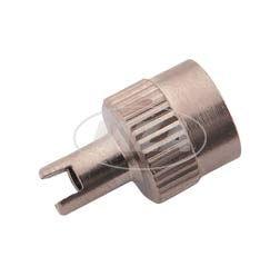 Ventilkappe mit Dichtring -  Metall  - Schlüsselventilkappe - Geriffelter Rand -