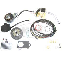 Lichtmaschine mit integrierter, kontaktloser, vollelektronischer Zündung 12V 150W - passend für AWO425 Sport + Touren
