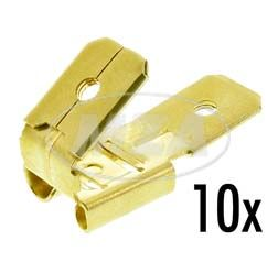 P.U. 10x double blade receptacle with junction, uninsulated - size: 6,3x 0,8 mm