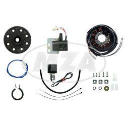 Lichtmagnetzündanlage mit integrierter vollelektronischer Zündung, 12V 80W  GE250, ETS-G250 - Geländesport