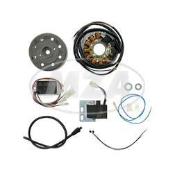 Lichtmagnetzündanlage 12V/100W mit integrierter vollelektronischer Zündung - Simson Vogelserie ohne Lüfterrad, auch SR50/1, S51/1, SR80/1 (ohne Elektrostart)