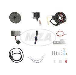 Lichtmagnetzündanlage 12V 150W mit integrierter vollelektronischer Zündung für 2 Zylinder JAWA (18/354/360/361/362/633)