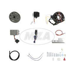 Lichtmagnetzündanlage 12V 150W mit integrierter vollelektronischer Zündung, passend für JAWA 11/353/355/356/559/590 und CZ 450/455/470/475/477/482/485/487