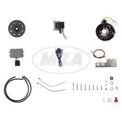 Lichtmagnetzündanlage 6V 100W mit integrierter vollelektronischer Zündung für 2 Zylinder JAWA 18/354/360/361/362/633