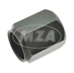 Mutter für Rückblickspiegel - Gewinde M8, schwarz verzinkt, Schlüsselweite 13 mm, Höhe 16 mm
