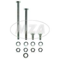 Normteile-Set für Kippständer-Fußrastenträger-Fußbremshebel - für S50, S51, S70