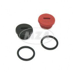 SET Verschlussschraube schwarz/rot, S51/53/70/83, SR50/80, KR51/2