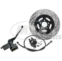 Handbremszylinder für Seriengasgriff mit Bremssattel, Scheibe Ø220 mm, Bremsschlauch 780mm, Roller