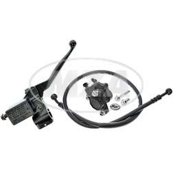 Handbremszylinder für Schnellgasgriff mit Bremssattel, Bremsschlauch Mokick 815mm