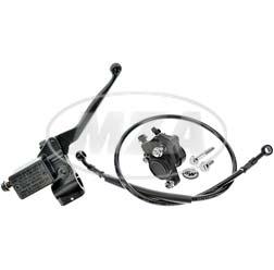 Handbremszylinder für Schnellgasgriff mit Bremssattel, Bremsschlauch Roller 780mm