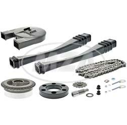 Kettensatz mit Kleinteilen - S50 - Mitnehmer Z=34, Rollenkette 112 Glieder, Antriebskettenrad Z=14