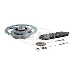 Kettenkit / Kettensatz mit Kleinteilen -  Roller SR50-25km/h - Mofa - Mitnehmer: Z=51, Rollenkette 104 Glieder, Antriebskettenrad: Z=16