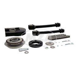 Kettenkit mit Kleinteilen - Roller SR50, SR80 - Mitnehmer Z=31, Rollenkette 94 Glieder, Antriebskettenrad Z=16 (mit Achsverlängerung)