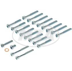 SET Normteile Motorgehäuse + Deckel kpl. - Innensechskant, 21-teilig - M500-M700